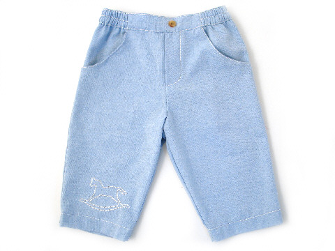 Darcy Brown Sky Trousers Chambray Twill