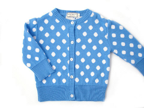 Darcy Brown Claudia Polka Cardigan Blue:White
