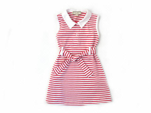 Darcy Brown Cruise Dress Sunny Red:White