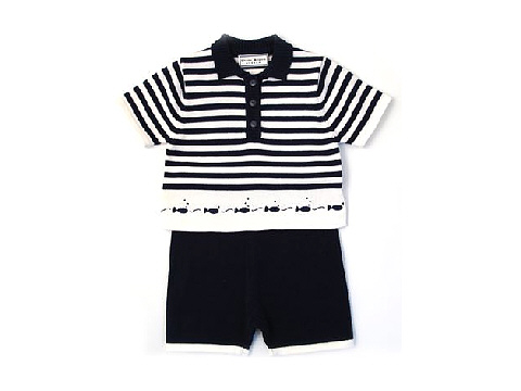 Darcy Brown Fish Two-Piece Navy:White