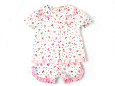 Darcy Brown Girls' Jersey Frilly Pyjamas Montifiore