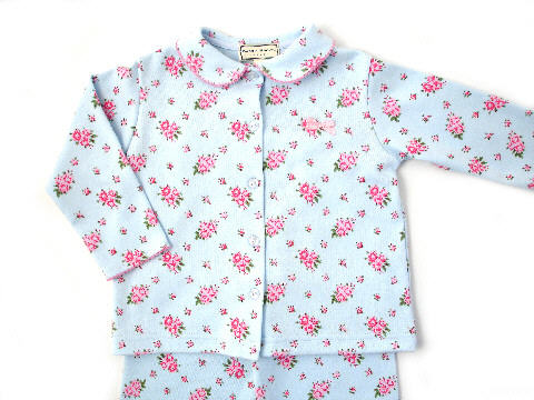 Darcy Brown Jersey Pyjamas Blossoms