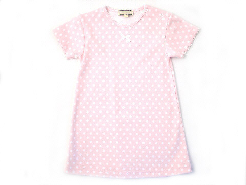 Darcy Brown Girls' Nightdress Pink Polka Dot