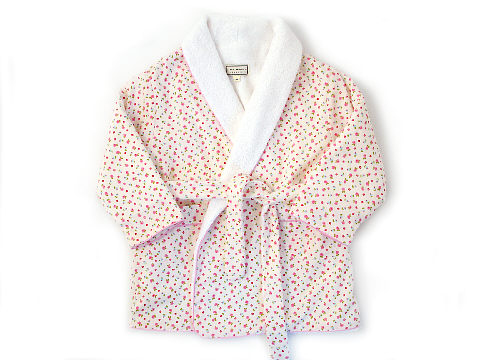 Darcy Brown Girls' Robe Lottie Cream