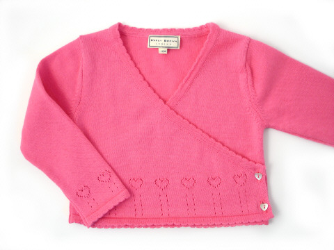 Darcy Brown Wrap-Over Cardigan Rose Pink