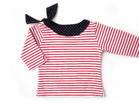 Darcy Brown Jackie O Top Red:White
