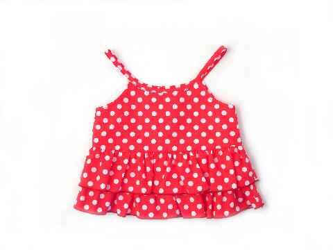 Darcy Brown Lily Top Red Polka Dot