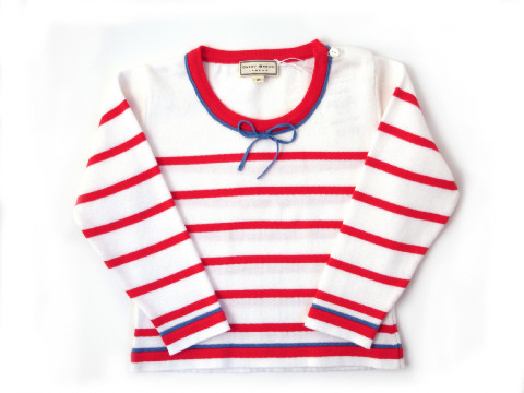 Darcy Brown Maritime Jumper Red:White