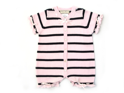 Darcy Brown Maritime Layette Pink:Black