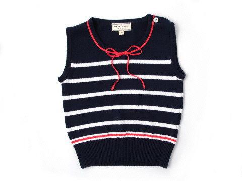 Darcy Brown Maritime Tank Top Navy:White