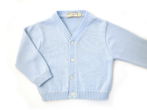Darcy Brown Stitch Cardigan Sky