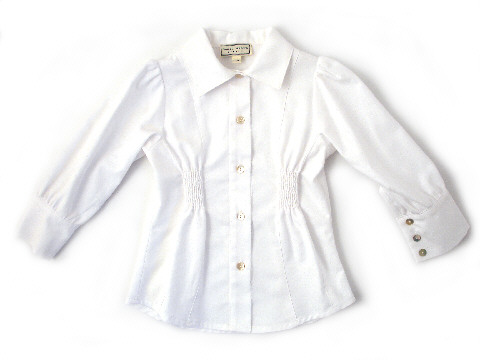 Darcy Brown Tailored Blouse White Oxford